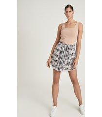 reiss jonah - circle printed mini skirt in pink print, womens, size 14