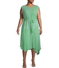 plus patterned handkercheif dress