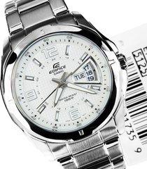 reloj casio edifice ef-129d-7a-plateado