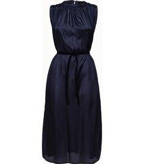 roberto collina abito smanicato in seta blu