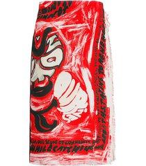 marni wrap skirt with print