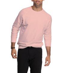 men's swet tailor crewneck sweatshirt, size x-large - pink