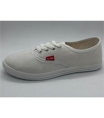 zapatilla blanca one foot lona