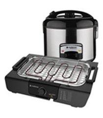 kit churrasco cadence - churrasqueira eletrica e panela de arroz