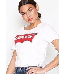 levis the perfect tee t-shirts vit/röd