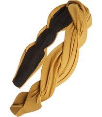 tasha wave fabric headband in mustard at nordstrom