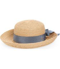 helen kaminski newport raffia straw hat, size medium in natural/coastal at nordstrom
