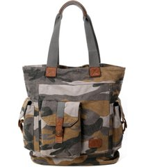 tsd brand camo canvas tote bag