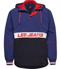 anorak outerwear jackets anoraks blauw lee jeans