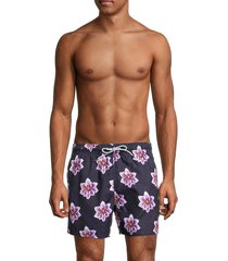 ted baker men's floral swim shorts - navy - size 1 (xs)