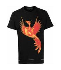 united standard camiseta de algodão com estampa gráfica - preto