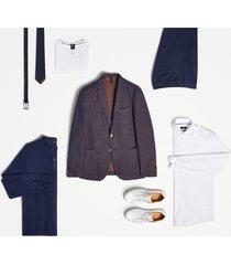 men's boss jemerson slim fit solid dress shirt, size 15.5 - white