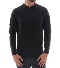 gabicci vintage francesco knitted polo shirt - black v41gk08