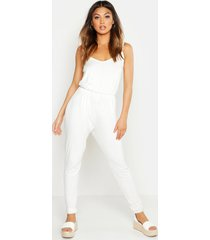 basic cami jumpsuit, ivory