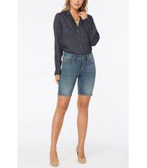 nydj petite ella jean shorts with side slits