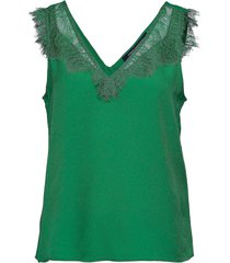chioma light lace top t-shirts & tops sleeveless groen french connection