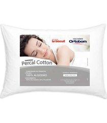 travesseiro ortobom percal cotton