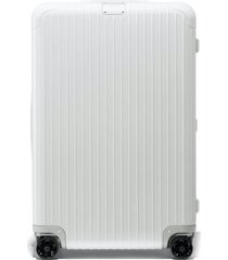 rimowa essential check-in large 31-inch wheeled suitcase - white