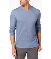 tasso elba men's supima blend knit v-neck long-sleeve t-shirt, created for macy's