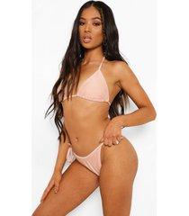 petite driehoekige mix & match bikini top, peach