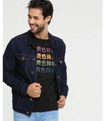 jaqueta doct jeans bolsos masculina