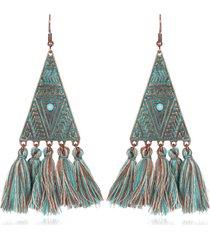 orecchini pendenti con ciondolo stile bohemi orecchini con motivo triangolare orecchini etnici