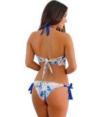 panty tipo bikini tulum jessie de la rosa lingerie para mujer - azul
