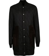 rick owens quilted liner peacoat