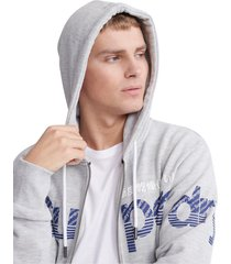 superdry heren vest core split logo lightweight zip hoodie collective light marl -