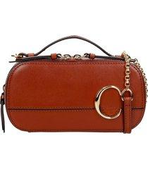 chloé chloe c shoulder bag in leather color leather