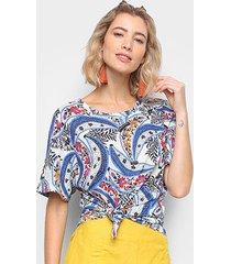 blusa farm tshirt banana florida feminina - feminino