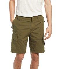 men's stone island bermuda cargo shorts, size 36 - green
