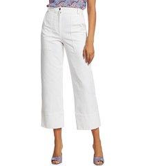 a.l.c. women's farrell cropped pants - chalk - size 4