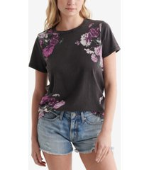 lucky brand classic floral-print t-shirt
