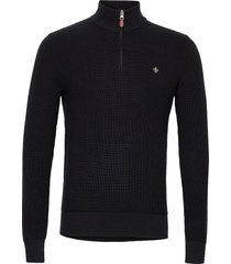 bernard half zip knitwear half zip jumpers svart morris