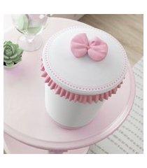 lixeira bebe menina branco/rosa alice gráo de gente rosa
