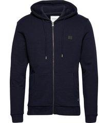 clinton zipper hoodie hoodie trui blauw les deux