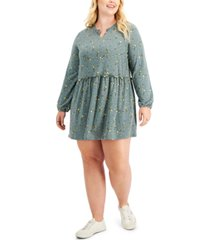 love, fire trendy plus size hacci babydoll dress