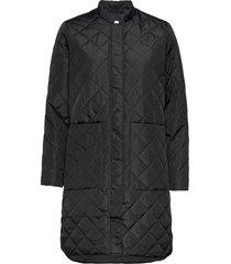 slffillipa quilted coat doorgestikte jas zwart selected femme