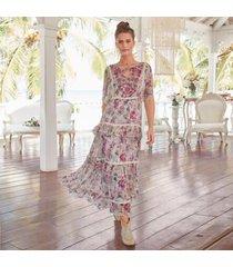 sundance catalog women's dreams in bloom dress petite in floral petite medium
