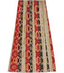 gucci lurex gucci game wool skirt - multicolour