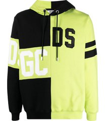 gcds yellow and black cotton hoodie