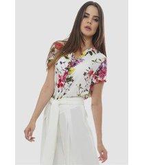 camisa viscose estampada floral sob feminina