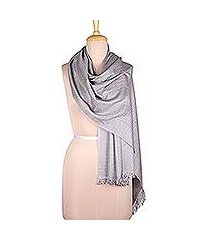 viscose blend shawl, 'gorgeous grey' (india)