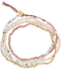 women's chan luu freshwater pearl & gold naked wrap bracelet