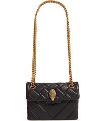 kurt geiger london mini kensington x leather shoulder bag - black