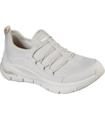 zapatos mujer  arch fit - lucky thoughts beige skechers