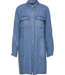 tencel over d shirt dress dresses shirt dresses blå superdry
