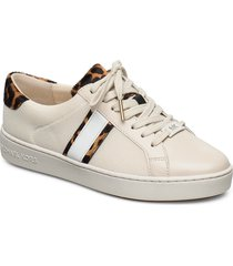 irving stripe lace up låga sneakers beige michael kors shoes