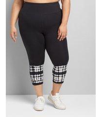 lane bryant women's livi capri power legging 18/20 black